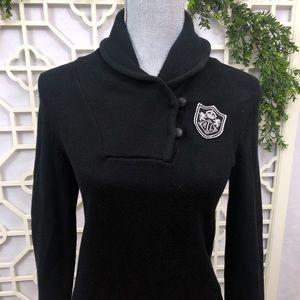 RALPH LAUREN Cardigan Sweater Shawl Collared Logo